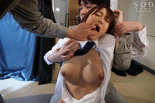 【巨乳女捜査官レイプ高画質エロ動画】西野翔 男子の格好がバレて輪姦されて…